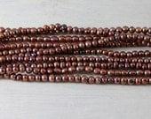 Dark Copper Potato Freshwater Pearls 3.5-4mm