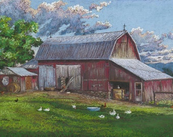 "Fay's Barn unframed 16""x24"""" Giclee Print on paper"