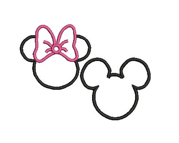 Items Similar To Minnie Mouse Applique And Mickey Mouse