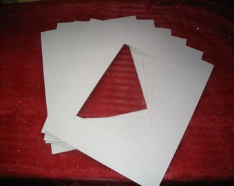 Mat Board/Set of 6/11 X 14/Antique White/Beveled/Art/Projects/School/Teachers