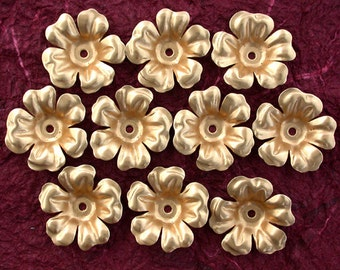 Flowers Vintage Style Supplies Collage Craft Supplies Jewelry Supplies Made in USA Wedding Supplies Hair Crafts Raw Brass Flowers STA-048-10
