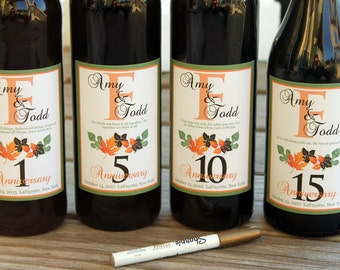 Fall Wine label guest book, Guestbook Wine Kit, Spring Wine Bottle Guest Book Kit, Custom labels, wedding wine labels, personalized labels