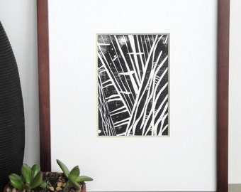 Linocut Print - Abstract Patterns and Lines 5 x 7 Block - 1-7002