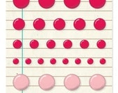 Basic Grey Basics Candy Buttons - Red & Pink -- MSRP 4.00
