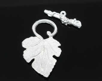 Grape Toggle Clasp Findings Silver 37x23mm - 25x8mm (5sets) Ships Immediately from California - FC60