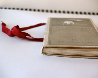 Rudyard Kipling - Journal, Upcycled lined gray