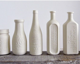 Antique Porcelain Bottles, Handmade Ceramic Replicas, Choose from 7 different designs
