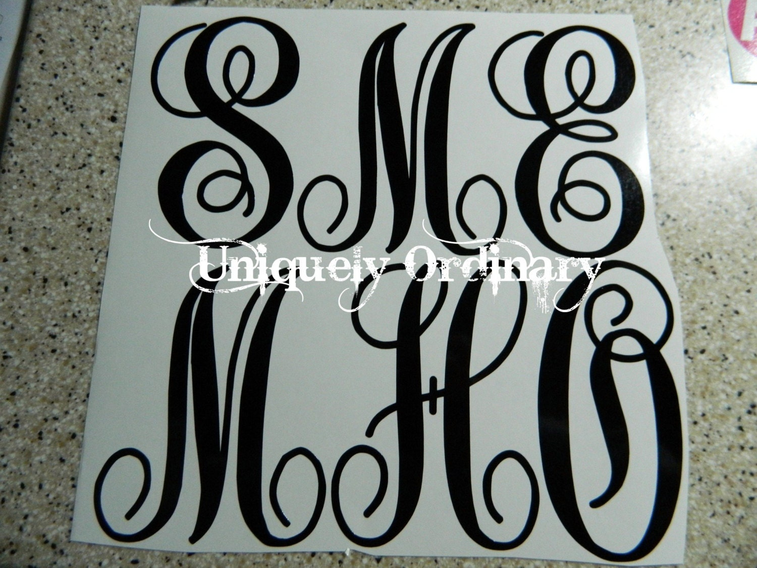 Single 3 custom vinyl letter or number by uniquelyordinarycndr for 3 vinyl letters and numbers