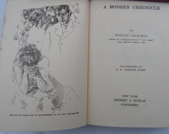 1910's Set of Four Winston Churchill Novels Dwelling Place of Light, The Crossing, The Crisis and The Modern Chronicle