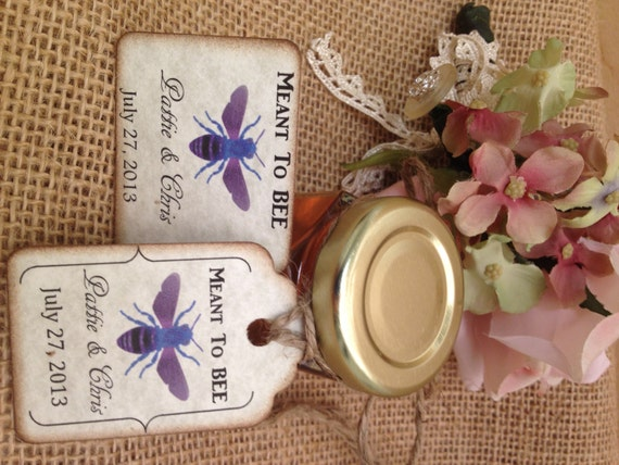 Items similar to 50 qty meant to bee honey wedding shower for Honey bee wedding favors