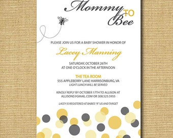 Mommy To Bee: Printable Baby Shower Invitation