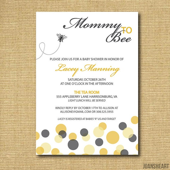 Bee Invitations Baby Shower for perfect invitations example