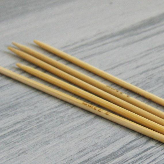 Mm Knitting Needles : Mm dpns set of five bamboo knitting needles