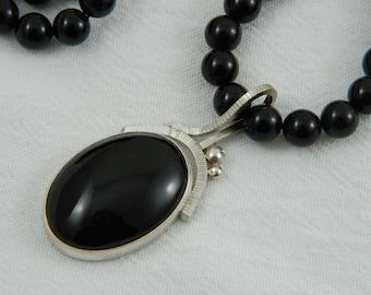 Black Onyx Necklace Artisan Necklace Luxury Jewerly Handmade Art Jewelry Black Onyx Jewelry Artisan Jewelry