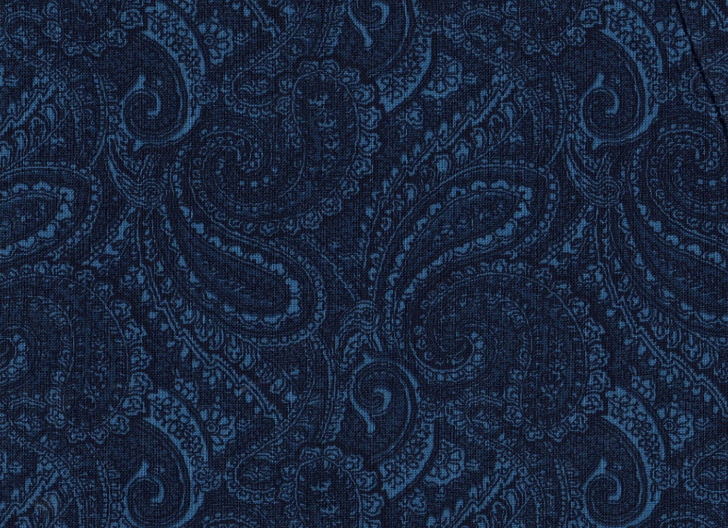 1 Yard 108 Quilt Backing Paisley Fabric Blue By