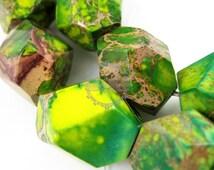 5pcs 13x18mm random irregular shape nugget green/purple imperial jasper beads stone gemstone pendant charm supplies beads findings 3160026