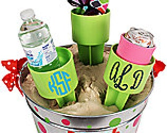 Spiker Beach Beverage Holder in six colors personalized just for you