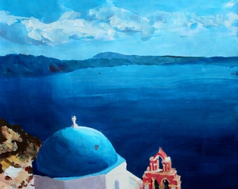 Santorini, Greece - View from Oia - Limited Edition Fine Art Print