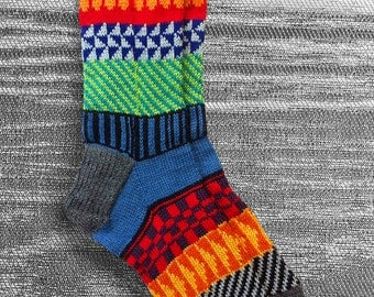 Socks, Hand Knit Socks, Boho Socks, Men Socks, Women Socks, Teen Socks, Original Icelandic Design, Hipster Socks, Made to Order
