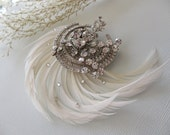 Art Deco Hair Clip - 1920's 1930's Vintage Inspired Bridal Hair Clip, Hair Comb, Bridal & Wedding Hair Fashions, Great Gatsby Wedding