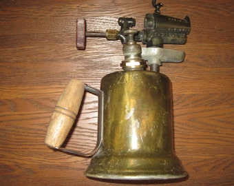 1910s Antique Otto Bernz Brass Torch - Industrial