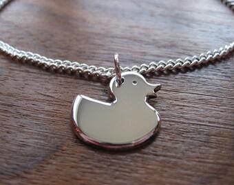 Duck Charm Silver Bracelet
