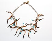 tribal spike and suede necklace // DOWA