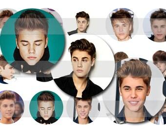 INSTANT DOWNLOAD Justin Bieber Bottle Cap Image Sheet