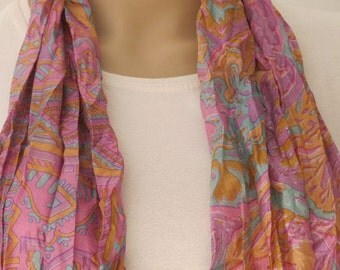Beautiful Pastel colored Silk scarf