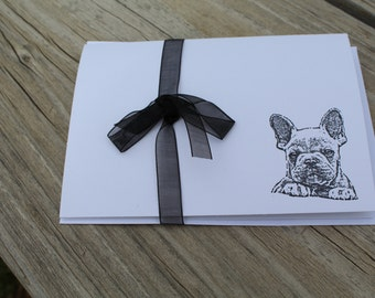Set Of 10 French Bulldog Note Cards