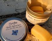 Lavender Body Lotion Mini  Bars Three Each 1/4 Ounce In 4oz tin