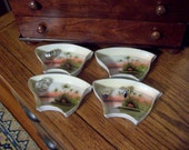 Ring Dishes Hand Painted Japanese Relish Dishes c.1940