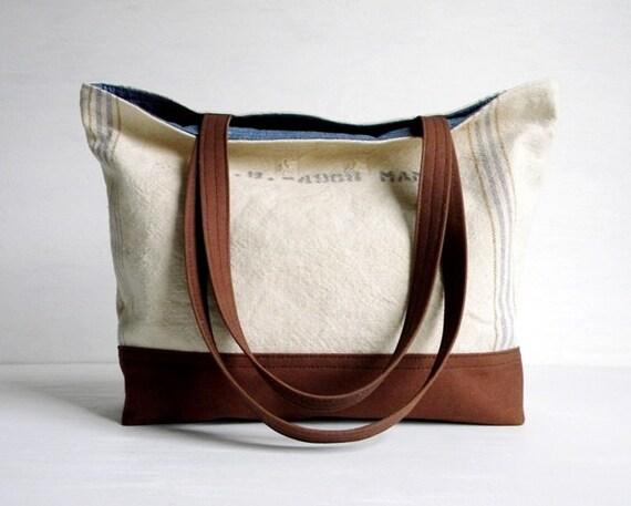 Small Tote Bag Grain Sack