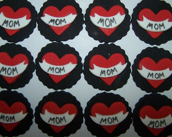 Fondant Toppers - Mom Tattoos