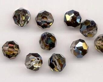 Twelve Swarovski crystals in the effect color crystal tabac - art. 5000 - 10 mm