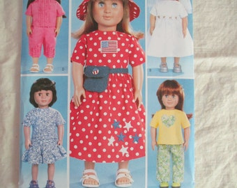 "UNCUT Butterick Sewing Pattern 3875 for 18"" Doll Clothes"