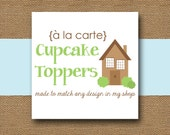 Made to Match CUPCAKE TOPPERS - DIY Printable - Personalize and Coordinate with Any Design in My Shop