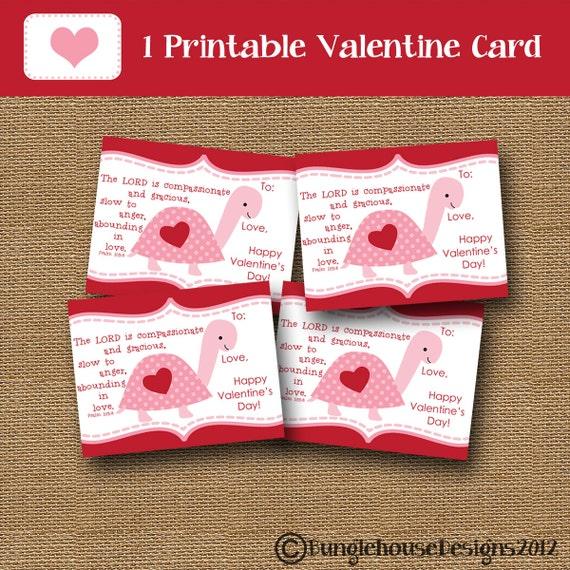Schön Kids Valentine Party Turtle Valentine Card DIY PRINTABLE