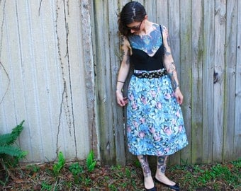 Vintage // 1970s' Grunge Maxi Skirt with Pockets // Nikki Made in USA // Size S // Gypsy Rose