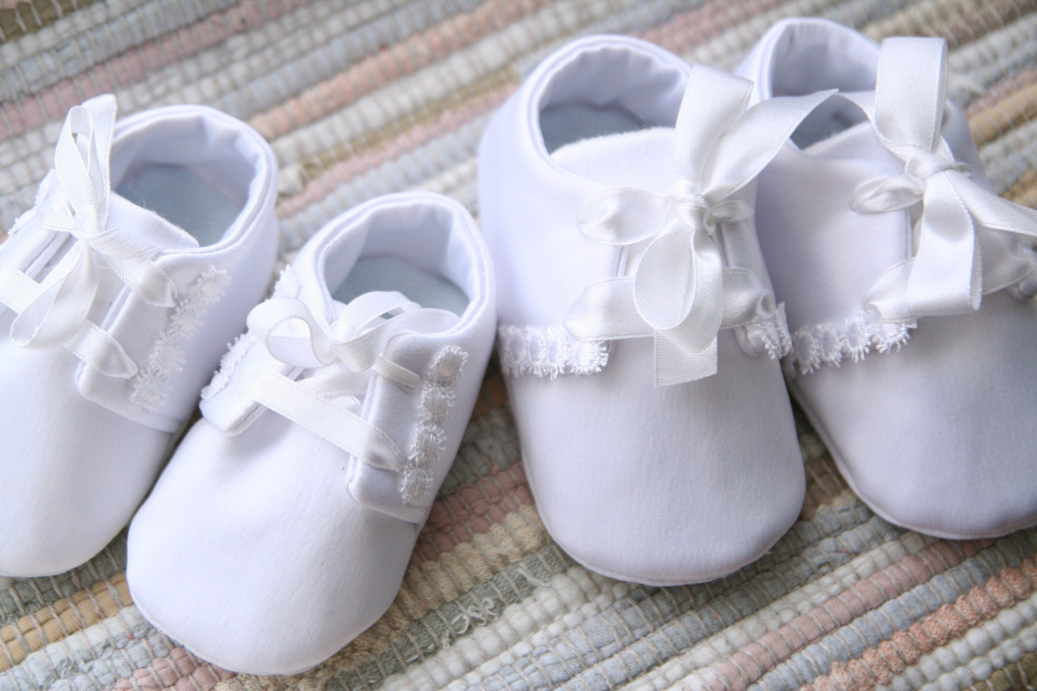 baby boy white christening wedding shoes white satin oxford