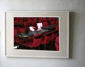 Red chairs in France Fine Art Photography Print 100 x 70cm
