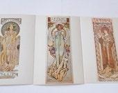 Art Noveau Postcards Alfons Mucha Advertising Prints