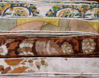Silk Sari Ribbon, Silk Trim, 4 colors, B6