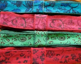 Silk Sari Ribbon, Silk Trim, 4 colors,  B45