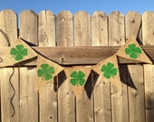 SHAMROCK BANNER, St. Patricks Day Decor, St. Pattys Day, Irish Decor, Lucky Banner, St. Patricks Day Banner, Fighting Irish, Lucky