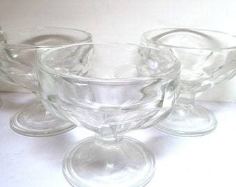 Vintage Sherbet Dishes (4) 1940s