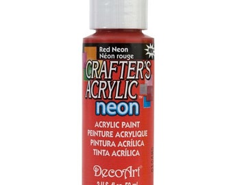 Neon Red Acrylic Paint (2oz)