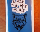 A Wolf is a Wolf is a Wolf - Zine