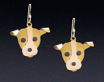 Jack Russell Terrier Jewelry - Jack Russell Terrier Earrings - by Anita Edwards