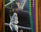 SHAQUILLE O'NEAL 1992 Rookie Insert Card Orlando Magic Basketball Vintage